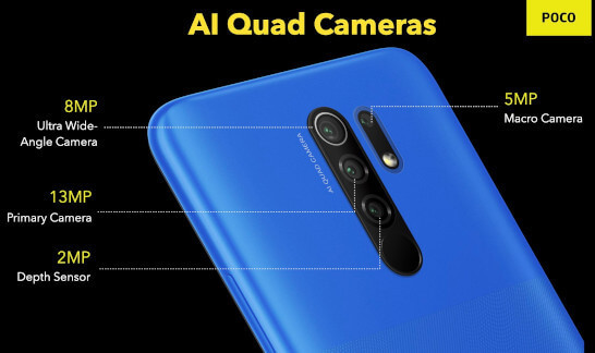 Xiaomi Poco M2 Reloaded cameras