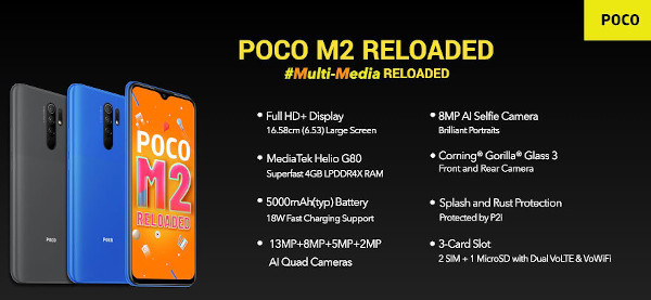 Xiaomi Poco M2 Reloaded specs and features