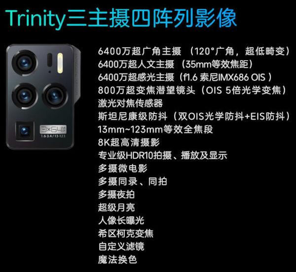 ZTE Axon 30 Ultra 5G cameras