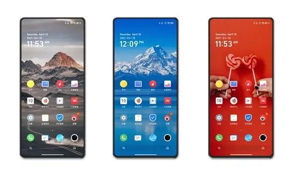 smartphone with under display camera