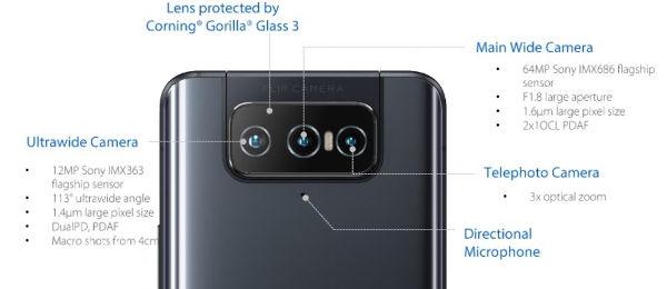 ASUS Zenfone 8 Flip cameras