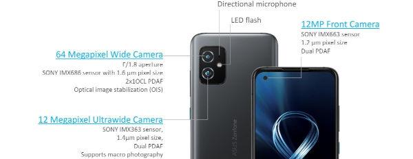 ASUS Zenfone 8 cameras