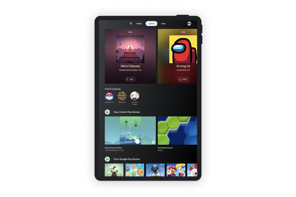 Google Entertainment Space for Android tablets Games Tab