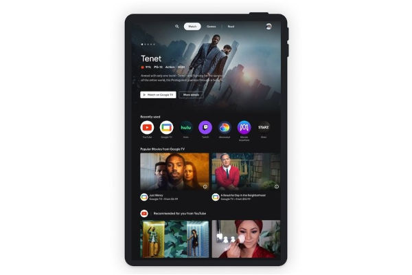 Google Entertainment Space for Android tablets Watch Tab