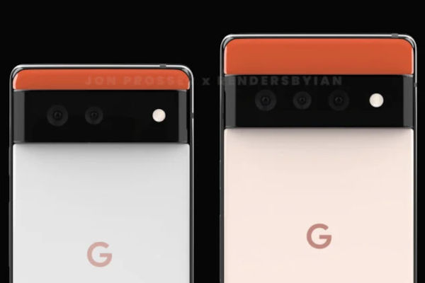 Google Pixel 6 and Pixel 6 Pro Renders Reveal Its New Rear Design 2