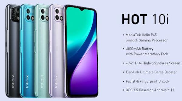 Infinix Hot 10i in colors