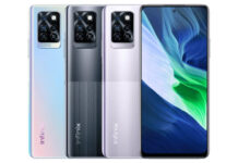 Infinix Note 10 Pro in colors