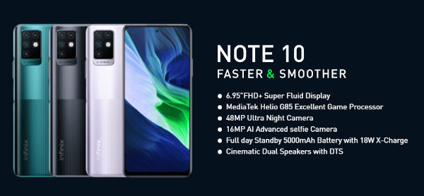 Infinix Note 10 specs and features