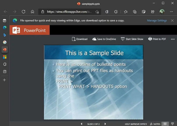 Microsoft Edge Browser Gets Powerpoint Integration