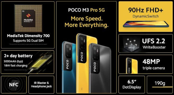 Poco M3 Pro 5G specs and features