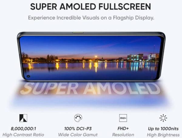 Realme X7 Max 5G display