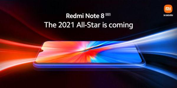 Redmi Note 8 2021 design leaks