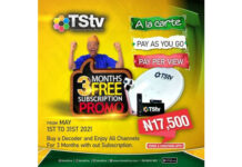 TSTV Free 3 months subscription