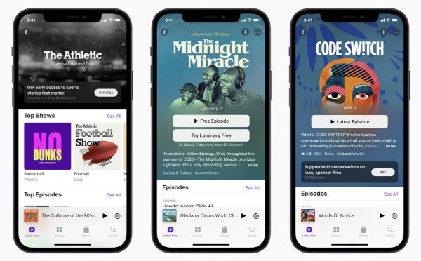 iOS 14.6 also adds support for Apple Podcasts Subscriptions