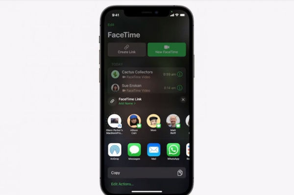 FaceTime Links let you share a group FaceTime call