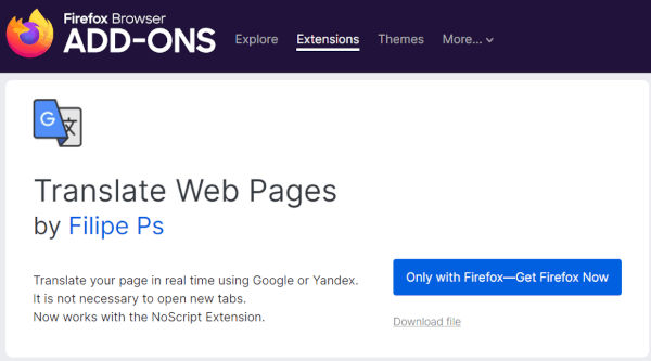 Firefox Finally Gets Its Own Native Translations Function
