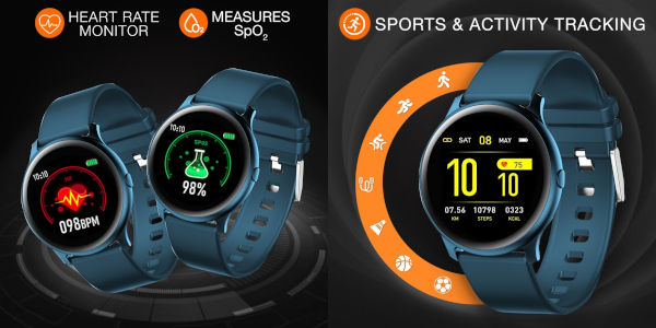 Gionee StylFit GSW7 Heart rate and SpO2 tracking and Exercise tracking