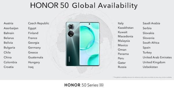Honor 50 SE availability