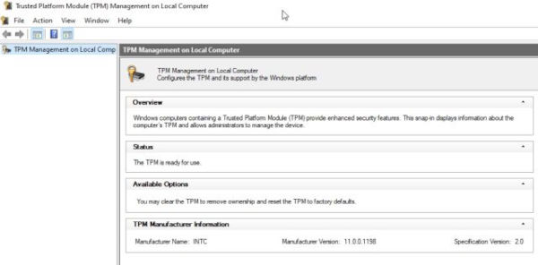 How To check if your Windows 10 PC Has A TPM Module