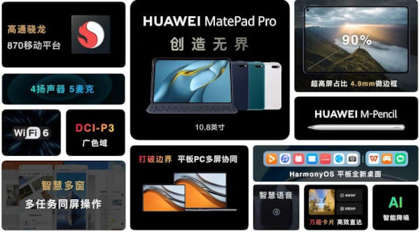 Huawei MatePad Pro 10.8 2021 specs and features