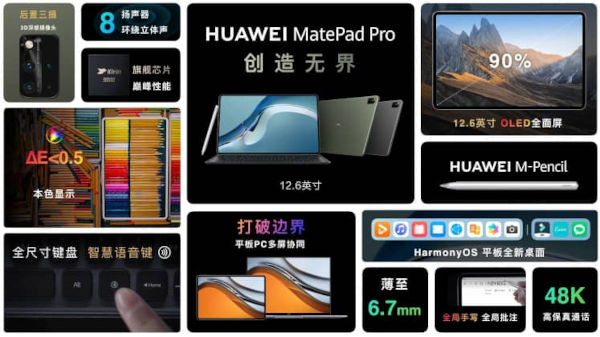 Huawei MatePad Pro 12.6 2021 specs and features