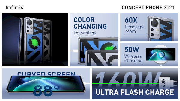 Infinix Concept Phone 2021 Has 160W Fast Charging Support 2