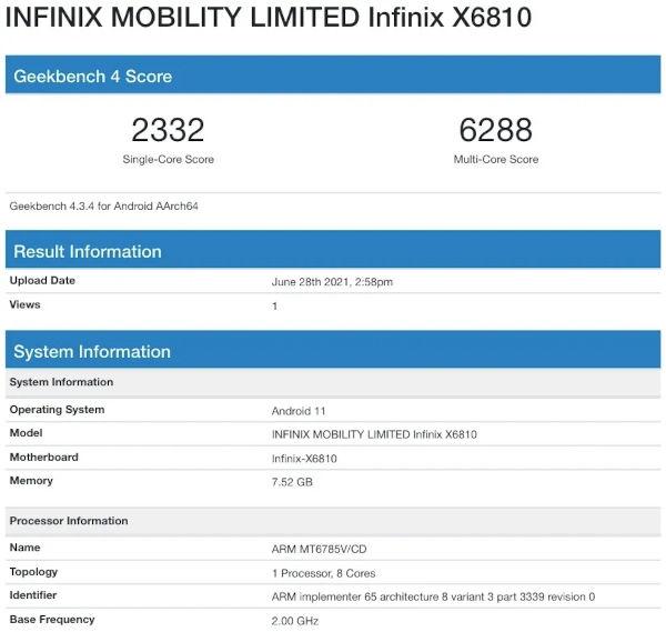 Infinix Zero M Specifications Revealed