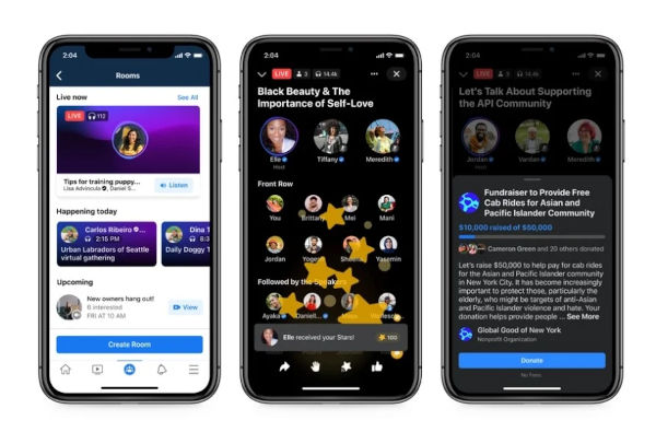 Live Audio Rooms in Facebook and Messenger