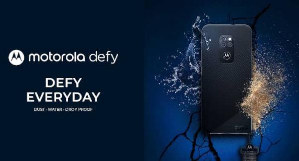 Motorola Defy 2021 is a rugged smartphone