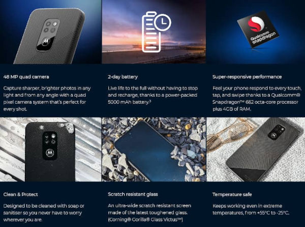 Motorola Defy 2021 specs