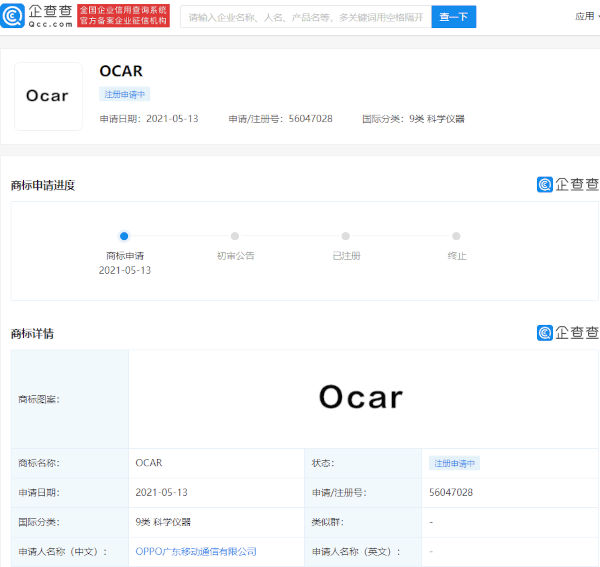 Oppo To Start Making Cars Applies For The OCAR Trademark 2