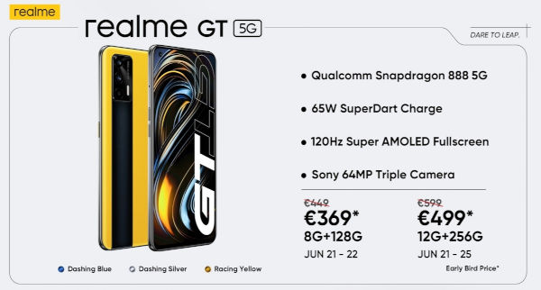 Realme GT 5G launched globally