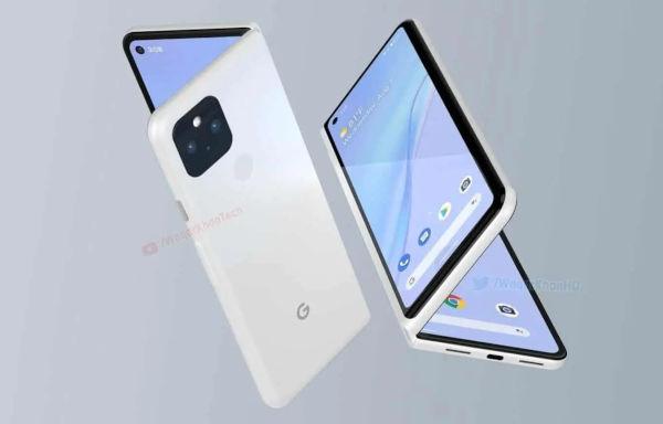 Render of Google Foldable Smartphone 1