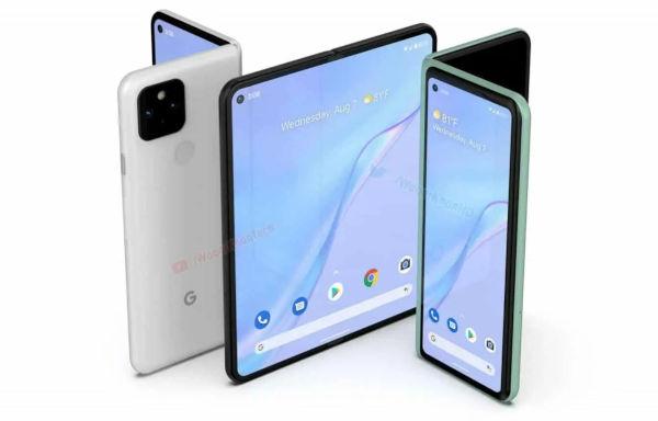 Render of Google Foldable Smartphone 2