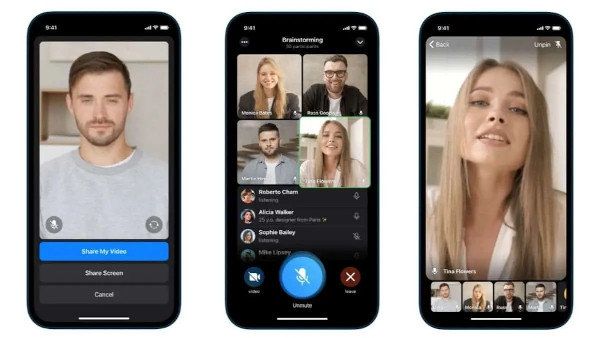 TELEGRAM LAUNCHES GROUP VIDEO CALLS AND SCREEN SHARING