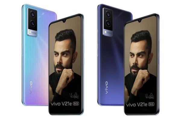 Vivo V21e 5G in colors