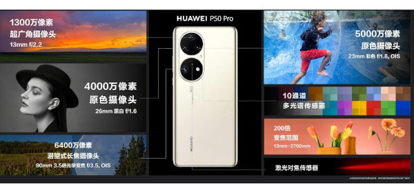 Huawei P50 Pro features