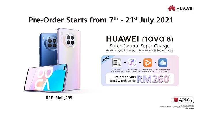Huawei nova 8i price and availability
