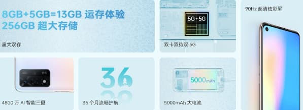 OPPO A93s 5G features