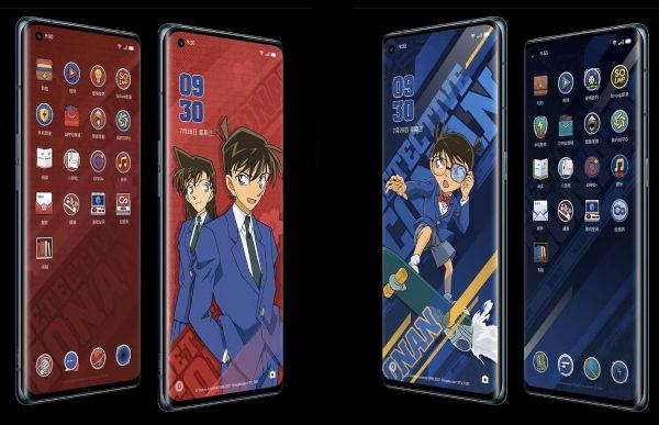 OPPO Reno6 Pro 5G Detective Conan Limited Edition in colors