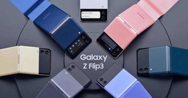 Samsung Galaxy Z Flip3 5G renders in colors