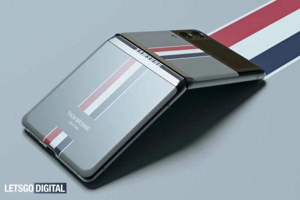 Samsung Galaxy Z Flip3 Thom Browne edition render surfaced 2