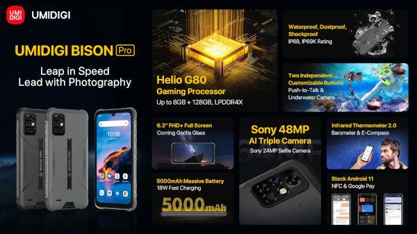 UMIDIGI BISON Pro specs and features