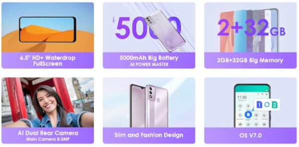 Itel P37 specs and features