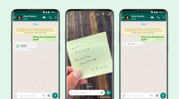 WhatsApp gets View Once Photos and Videos