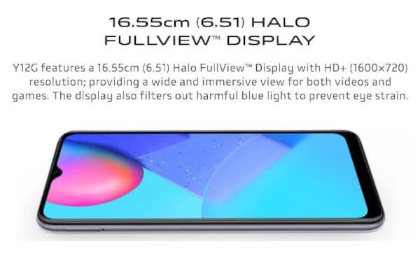 vivo Y12G display