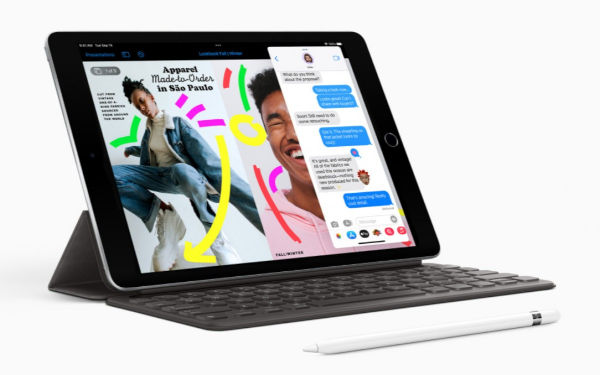 Apple iPad 10.2 2021 with keybaord and first gen Apple Pencil