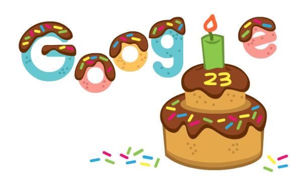 Google Celebrates 23rd birthday