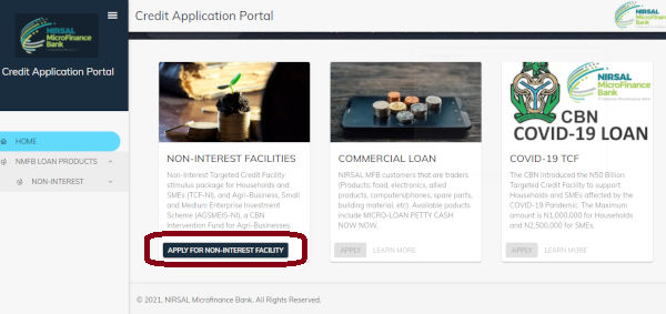 How To Apply For CBN NIRSAL Non Interest Facilities Loan 1