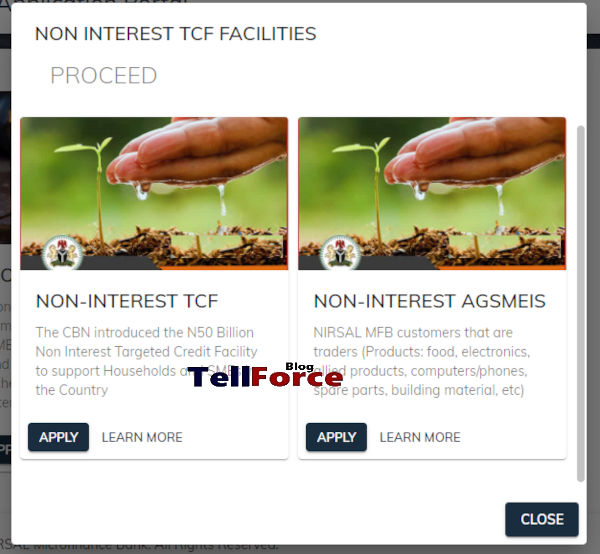 How To Apply For CBN NIRSAL Non Interest Facilities Loan 11